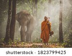 Thai Monks Studying In The...