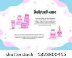 daily personal care banner... | Shutterstock .eps vector #1823800415