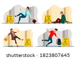 vector falling people and...   Shutterstock .eps vector #1823807645