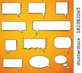 vector icon set speech bubbles | Shutterstock .eps vector #182382065