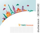 travel and tourism background | Shutterstock .eps vector #182382182