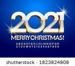 vector premium card merry...   Shutterstock .eps vector #1823824808