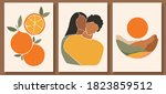 set of abstract man and female... | Shutterstock .eps vector #1823859512