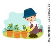 vector illustration cartoon of... | Shutterstock .eps vector #1823863718