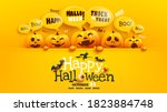 happy halloween poster and... | Shutterstock .eps vector #1823884748