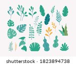 leaves  plants and trees vector ...   Shutterstock .eps vector #1823894738