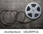 motion picture film reel on the ... | Shutterstock . vector #182389916