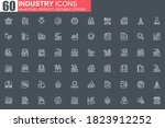heavy industry thin line icon...