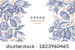 cocoa frame. vector nature... | Shutterstock .eps vector #1823960465
