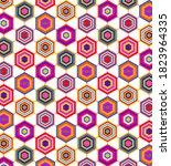 hexagonal spider web flag of...   Shutterstock .eps vector #1823964335