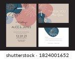 abstract wedding invitation.... | Shutterstock .eps vector #1824001652