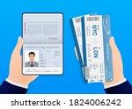 airline tickets  great design...   Shutterstock .eps vector #1824006242
