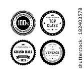 retro labels  top class vintage ... | Shutterstock .eps vector #182403578