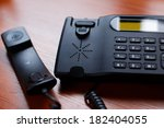 a black office receiver wtith a ... | Shutterstock . vector #182404055