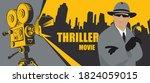 movie poster for thriller films.... | Shutterstock .eps vector #1824059015