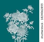 bunch of japanese flower...   Shutterstock .eps vector #1824062855