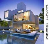 external view of a contemporary ... | Shutterstock . vector #182408996