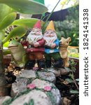 Close Up Low Angle On Gnomes In ...