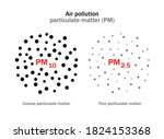 air pollution. atmospheric... | Shutterstock .eps vector #1824153368