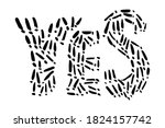yes sign with exclamation...   Shutterstock .eps vector #1824157742