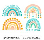 abstract rainbow ornament with... | Shutterstock .eps vector #1824160268