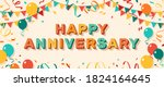 happy anniversary greeting card ... | Shutterstock .eps vector #1824164645