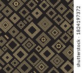 rhombus and squares from golden ... | Shutterstock .eps vector #1824197372