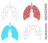 healthy lungs medicine...   Shutterstock .eps vector #1824222905