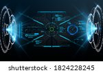 virtual reality. futuristic vr... | Shutterstock .eps vector #1824228245