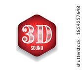 3d sound sign red hexagon | Shutterstock .eps vector #1824257648