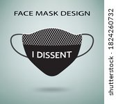 face mask design with lace... | Shutterstock .eps vector #1824260732