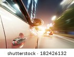 car driving fast down in the... | Shutterstock . vector #182426132