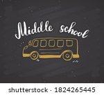 back to school calligraphic... | Shutterstock . vector #1824265445