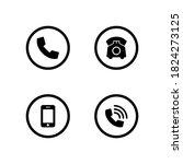 phone set icon symbol vector on ... | Shutterstock .eps vector #1824273125