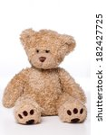 brown teddy bear isolated on... | Shutterstock . vector #182427725