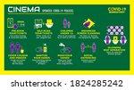 the social distancing cinema... | Shutterstock .eps vector #1824285242