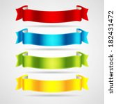 colorful ribbons set | Shutterstock .eps vector #182431472