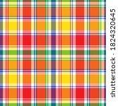 rainbow glen plaid textured... | Shutterstock .eps vector #1824320645