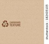 vector brown cardboard texture | Shutterstock .eps vector #182435105