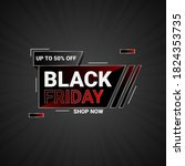 vector black friday sale banner.... | Shutterstock .eps vector #1824353735