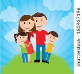 family design over landscape... | Shutterstock .eps vector #182437196