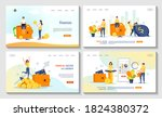 set of web pages with coins ... | Shutterstock .eps vector #1824380372