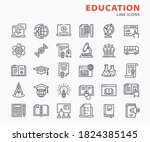 education icons  such as study  ... | Shutterstock .eps vector #1824385145