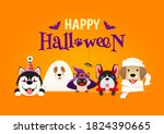 happy halloween greeting card... | Shutterstock .eps vector #1824390665