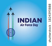 indian air force day vector...   Shutterstock .eps vector #1824395888