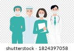 thank you doctors and nurses... | Shutterstock .eps vector #1824397058