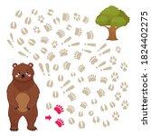 maze game for children. help... | Shutterstock .eps vector #1824402275