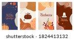 thanksgiving social media... | Shutterstock .eps vector #1824413132