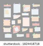 paper notes on stickers ... | Shutterstock .eps vector #1824418718