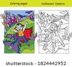 vector coloring pages with... | Shutterstock .eps vector #1824442952